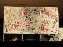 The finale piece, drawn by the two winning teams.