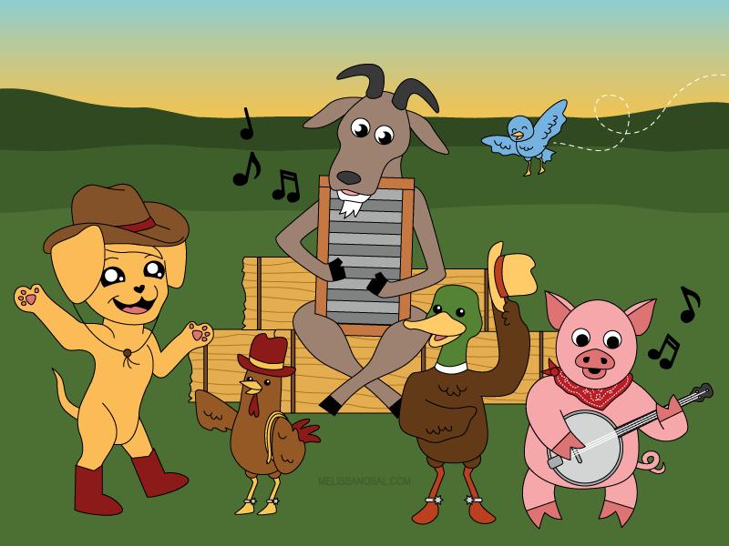 Barn Yard Animals Together