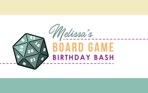 Board Game Birthday 1