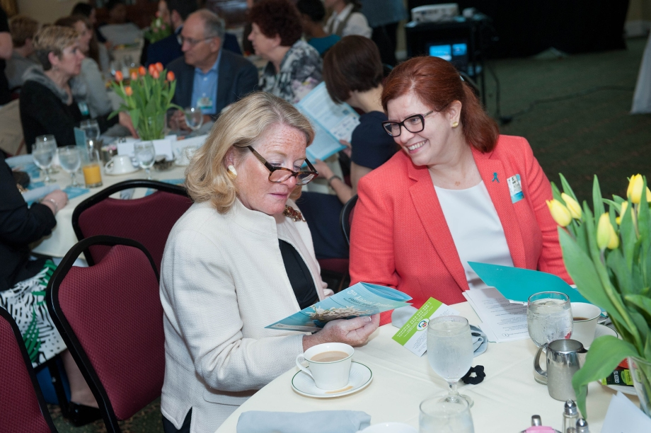 First Lady of Connecticut Cathy Malloy with The Alliance Executive Director Laura Cordes, 2017
