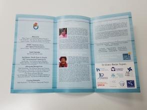 Inner side of the 5th Annual Breakfast brochure