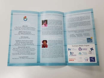 Inner side of the 5th Annual Breakfast brochure
